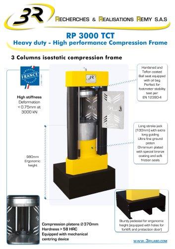 3R 3 Columns isostatic compression frame