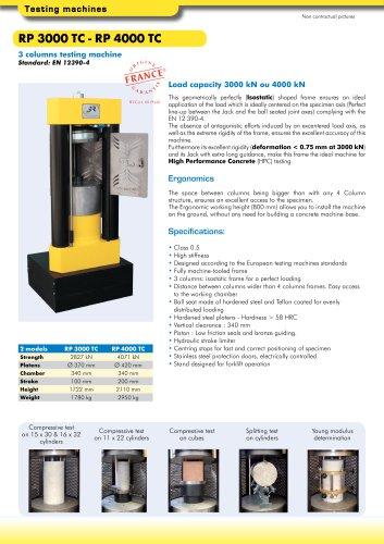 RP 3000 TC - RP 4000 TC