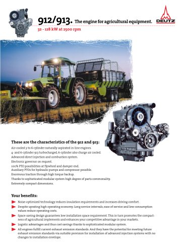 912 The Agricultural Equipment Engine Deutz Pdf Catalogs Technical Documentation Brochure
