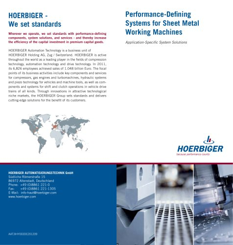 Performance-Defining Systems for Sheet Metal Working