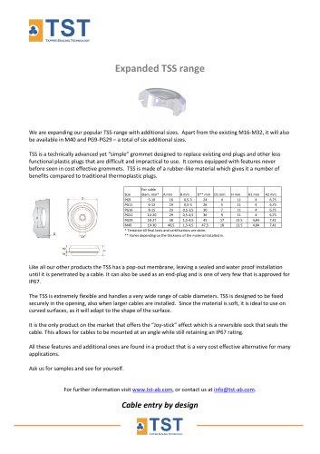 Extended TSS range