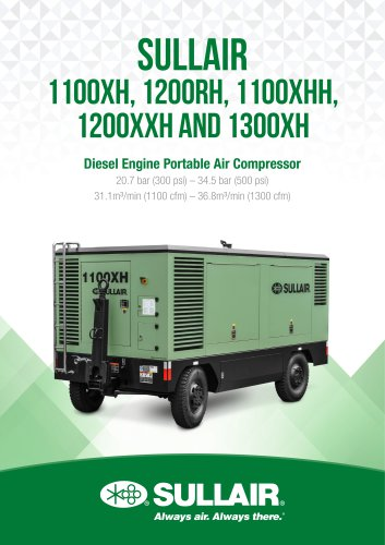 SULLAIR 1100XH, 1200RH, 1100XHH, 1200XXH and 1300XH