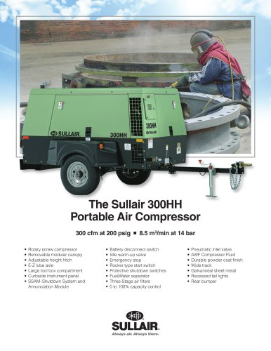 The Sullair 300HH Portable Air Compressor