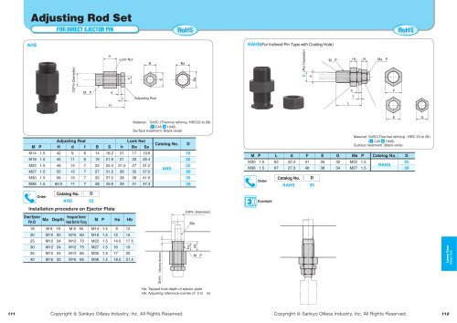 Adjusting Rod Set (For Direct Ejection Pin)