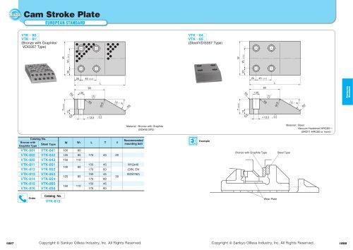 Cam Stroke Plate