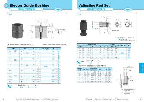 Ejector Guide Bushing for High Temperature