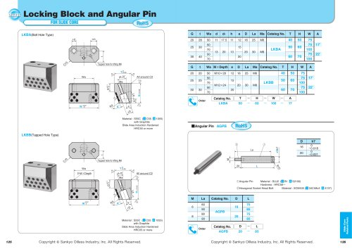 Locking Block  Augular Pin
