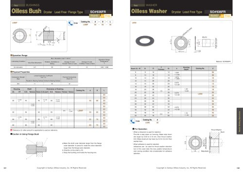 Oilless Resin Slideing Materials: Washer (Drystar)