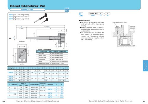 Panel Stabilizer Pin Plate Spring Type