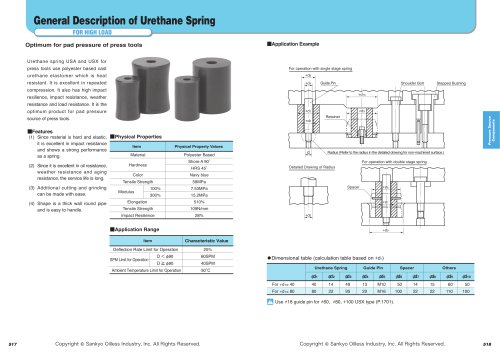 Rubber & Urethane Springs / Storage Blocks:High Load Urethane  Spring X Type