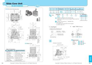 Slide Core Unit for Core Pin Mounting - 1