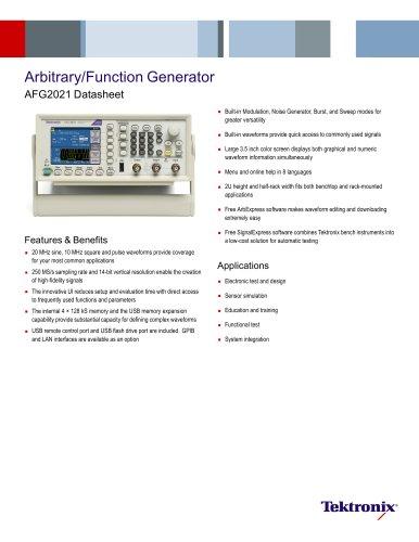 Arbitrary/Function Generator Datasheet AFG2021