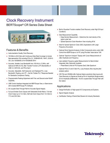 Clock Recovery Instrument BERTScope® CR Series