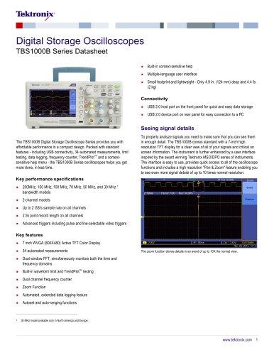 Digital Storage Oscilloscopes TBS1000B