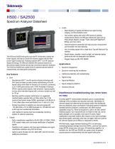 H500/SA2500 Handheld Spectrum Analyzer