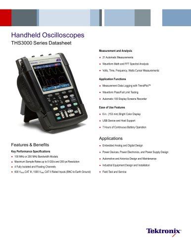 Handheld Oscilloscopes THS3000 Series