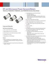 RF and Microwave Power Sensors/Meters Tektronix PSM3000, PSM4000, and PSM5000 Series