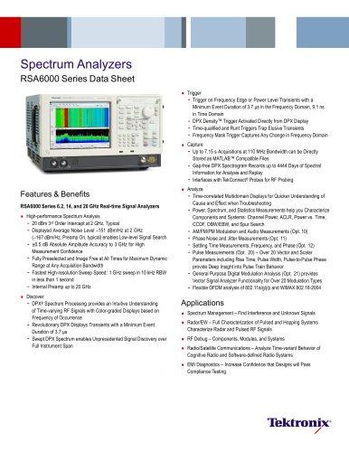 Spectrum Analyzers RSA6000 Series