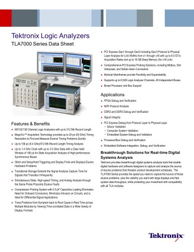 Tektronix Logic Analyzers TLA7000 Series
