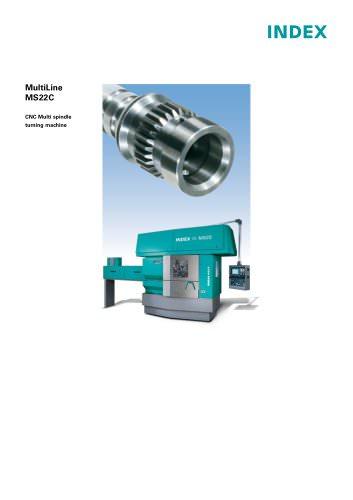MultiLine MS22C lean CNC Multi spindle turning machine
