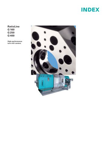 RatioLine G160/G250/G400 High-performance turn-mill centers