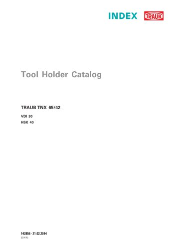 Tool Holder Catalog