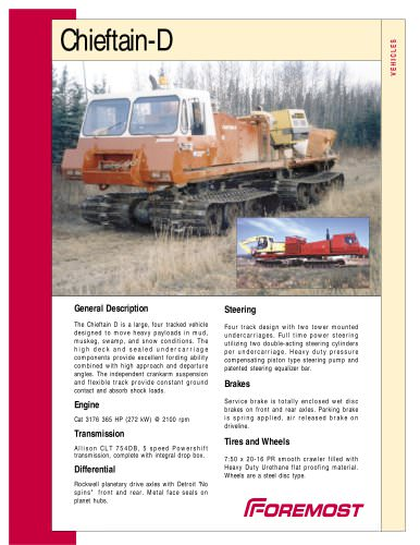 CHIEFTAIN D - Foremost Industries LP - PDF Catalogs