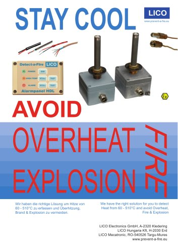 HDL, Heat DetectorLICO Safety switch to detect heat and prevent overheat and fire