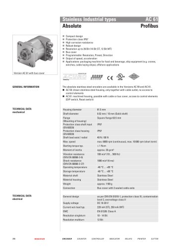 Stainless Industrial types AC 61
