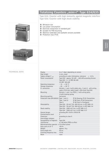 "Totalizing Counters ""mini-i"" Type 634/635"