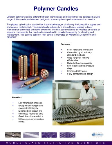 filter cartridge for chemical and polymer applications