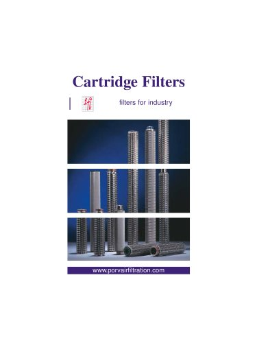 stainless steel filter cartridge for polymer applications