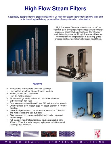 sterile steam filter