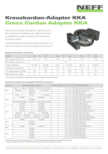 Cross Cardan Adapter