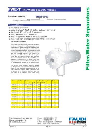 Filter/Water Separator type FWE-T
