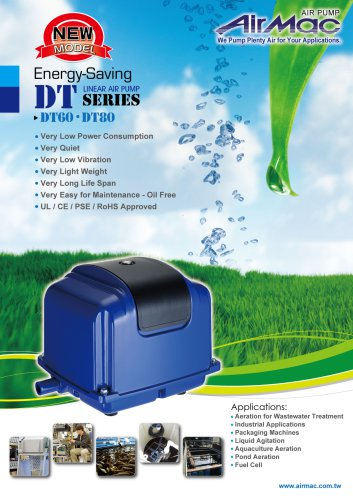 Eco linear air pumps DT60/80, septic pump