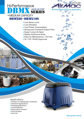 Linear air pump 80 liters (DBMX80)