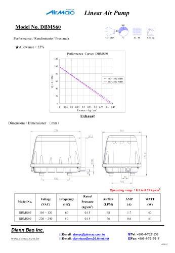 Linear Air Pump DBMS60