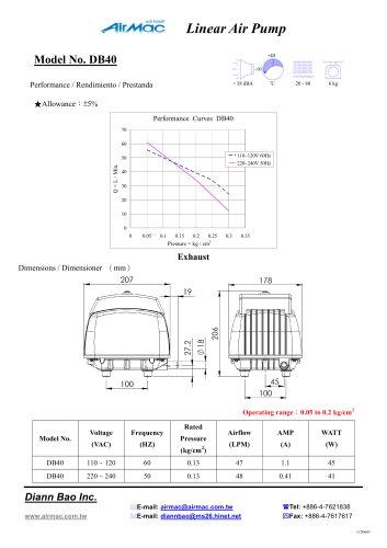 Linear air pumps DB40