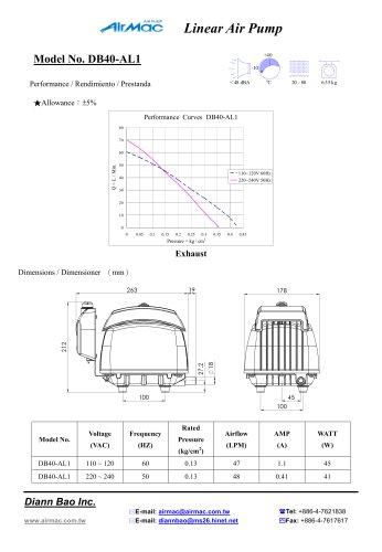 Linear air pumps DB40 AL1