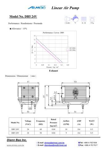 Linear air pumps DB5 24V
