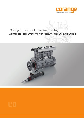 Common-Rail Systems for Heavy Fuel Oil and Diesel