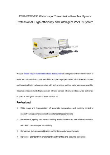 ASTM E96 Moisture Vapor Permeability Tester for Building MateriaLS