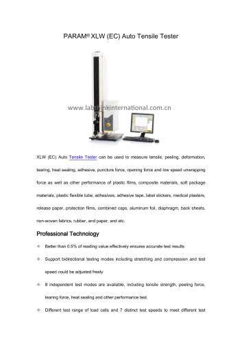 Bopp film heat seal strength analyzer