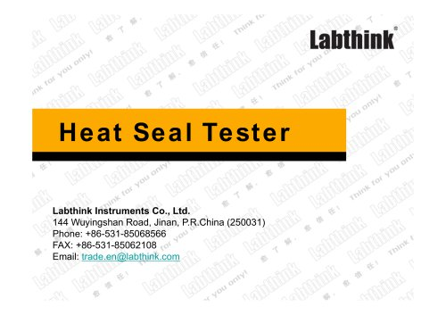 Heat Seal Parameters Determination of Flexible Polymer Film