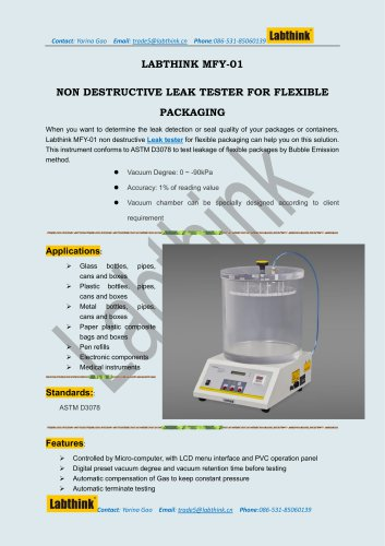 Labthink ASTM MRE Meals Package Leak Detection Equipment
