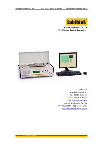 Labthink Coefficient of Friction tester to measure static and Kinetic COF of thin polymeric film