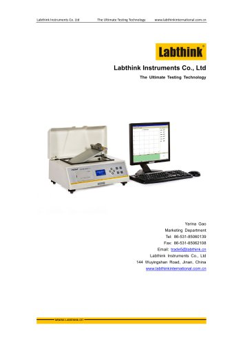 Labthink COF-P01  coefficient of friction/angle of slide tester