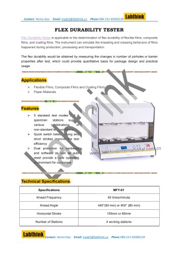 Labthink FDT-02 Flex Durability Tester Simulates Tough Transportation Conditions of Plastic Food Packaging