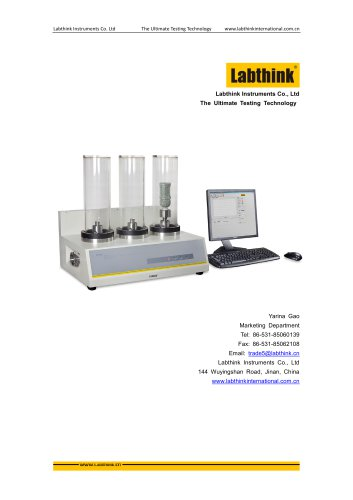 Labthink Gas Permeability Test Apparatus for Plastic Packaging materials CE Certified